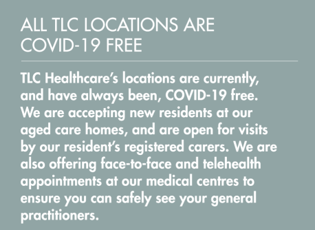TLC Healthcare - All TLC locations are COVID-19 free